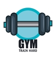 gym training hard barbell design vector image