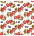Seamless strawberry vector image