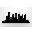 City skyline in grey colors Buildings silhouette vector image