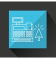 commerce cash register money icon graphic vector image