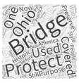 Ohios Lost Covered Bridges Word Cloud Concept vector image