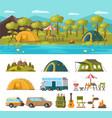 summer outdoor recreation concept vector image