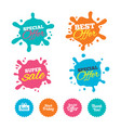 sale icons special offer symbols vector image