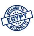 welcome to egypt blue stamp vector image
