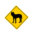 Dingo warning sign vector image