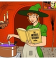 Witch preparing a potion vector image