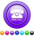 Free call circle button vector image