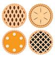 berryfruit and pumpkin pies vector image