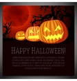 Big halloween banner with of carved vector image