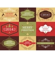 collection of Christmas and New years cards vector image