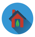 Ecological home with leaf icon vector image