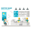Flat design coffee shop infographic vector image