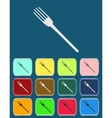 Fork emblem - icon isolated vector image