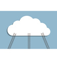 ladder to cloud vector image