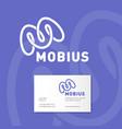 m monogram mobius logo identity vector image