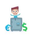 Multicurrency savings bank vector image