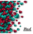 Realistic 3D Colorful Red and turquoise Romantic vector image
