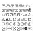 Set of washing symbols vector image
