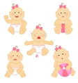 Small baby emotions vector image