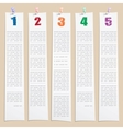 Template with numbers and columns vector image
