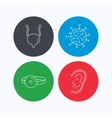 Virus urinary bladder and ear icons vector image