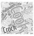 Halloween Cooking Ideas Word Cloud Concept vector image