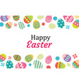 happy easter egg background template vector image vector image
