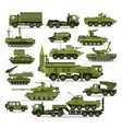 big set of military equipment heavy reservations vector image