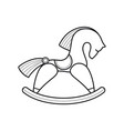 rocking wooden horse vector image