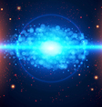Abstract cosmic light background vector image
