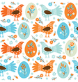 seamles Easter background vector image