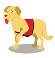 service dog cartoon vector image vector image