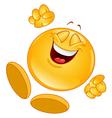 cheerful emoticon vector image vector image