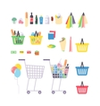 Supermarket products vector image