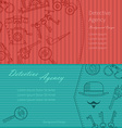 banners detective icons vector image