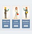 business people company staff business banners vector image