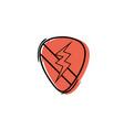 color rock emblem with thunder symbol design vector image
