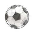 Football soccer game ball isolated on a white vector image