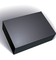 Package black box design isolated on white vector image