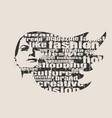 silhouette of a female head fashion keywords vector image