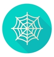 Spider Web Circle Icon vector image