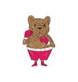 French Bulldog Boxer Boxing Stance Cartoon vector image