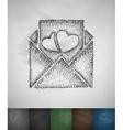 mash note icon Hand drawn vector image