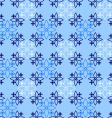 decorative blue pattern vector image vector image