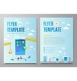 Design layout flyer Construction smartphone vector image vector image