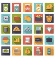 Flat Design Money and Finance Icons Collection vector image