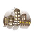 Cartoon Spooky Houses vector image