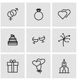 line wedding icon set vector image