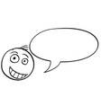 cartoon of male man head with empty speech bubble vector image