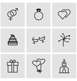 line wedding icon set vector image